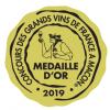 Médaille d'Or - Concours des grands vins de France Mâcon 2019