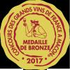 Médaille de Bronze au Concours des Grands Vins de France à Macon - 2017