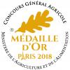 Médaille d'Or au Concours Général Agricole de Paris - 2018